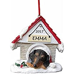 personalized dachshund christmas ornament doghouse ornament with magnetic back