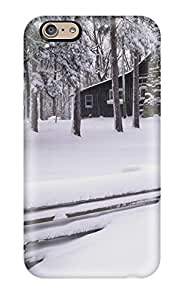 Ideal MeaganSCleveland Case Cover For Iphone 6(log Cabin In The Snow), Protective Stylish Case by lolosakes