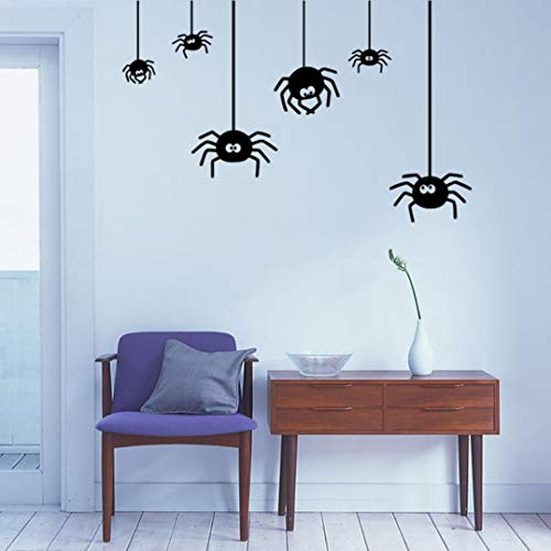 (CreazyBee DIY Halloween Decoration Spider Wall Stickers, Artistic Removable PVC Wall Sticker Home Décor)