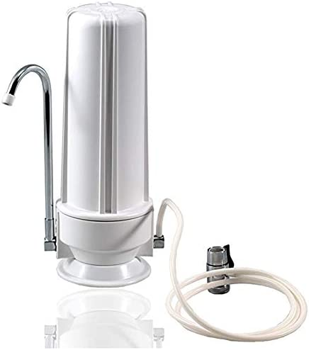 Vaorwne Premium Countertop Water Filtration System Easy to Use Portable Faucet Mounted Filter Transforms Tap Water Into Drinking Water