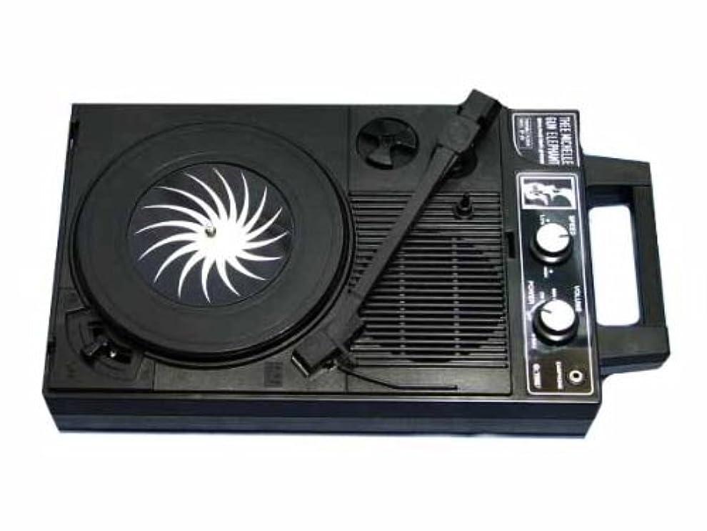 こねる西非武装化Musitrend レコードプレーヤー スーツケース型 スピーカー USB/SDレコーダ内蔵 ヘッドホン端子 RCA音声出力端子付き ブラック