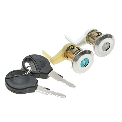 Homyl 2 Pieces Lockcraft Ignition Lock Cylinder w/Keys for Peugeot 206 98-09
