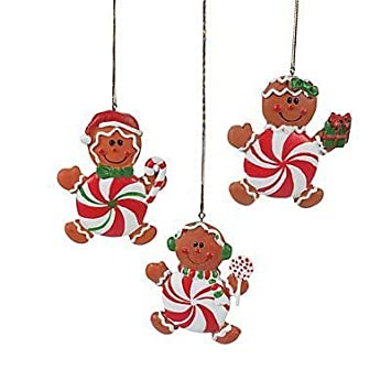 Peppermint Candy Gingerbread Man Christmas Ornaments 2 Dozen By Adventurers Bag