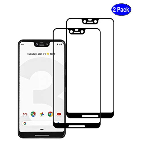 Price comparison product image NOMO Google Pixel 3 XL Screen Protector, [2 Pack] Full Screen Cover Anti-Bubble Tempered Glass Screen Protectors Film for Google Pixel 3 XL, Black
