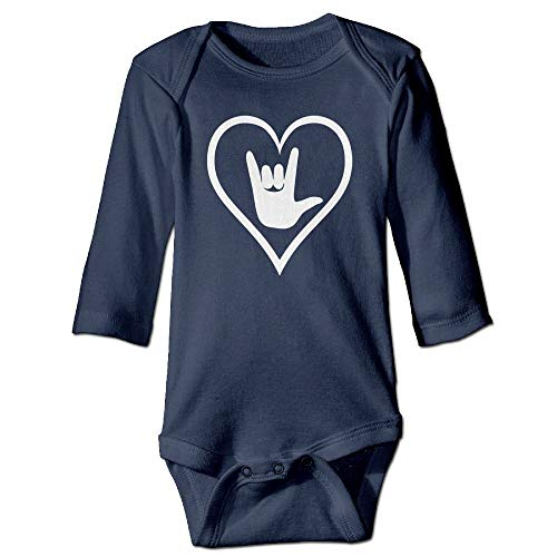 - ASL (American Sign Language) I Love You Baby Boys Long Sleeve Cotton Rompers for 6-24M Baby