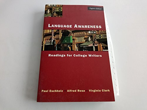 Language Awareness: Readings for College Writers by Bedford/St. Martin's