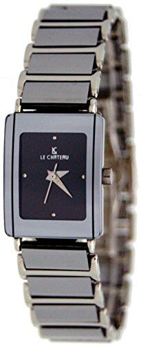 Le Chateau Women's Tungsten Watch Model LC-2673L (Black Dial) (Chateau Model)