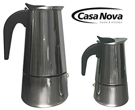 Amazon.com: Casanova Acero Inoxidable de 2 taza brew-fresh ...