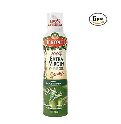 Bertolli 100% Olive Oil Spray 5oz Can (Pack of 6) Select Flavor Below (Extra Virgin)