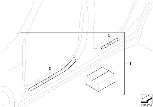 Bmw Genuine Door Sill Strips Kit Stainless Steel 51 47 0 426 783