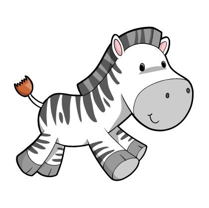 amazoncom childrens wall decals cartoon cute baby zebra 12 inch removable graphic home kitchen