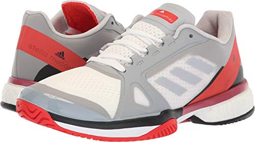 Adidas Ladies Core - adidas Women's aSMC Barricade Boost Mid Grey/Mid Grey/Core Red 11 B US