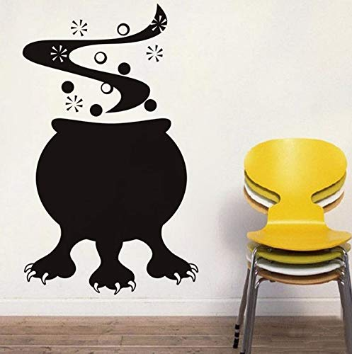 Dalxsh Halloween Cauldron Monster Vinyl DIY Wall Sticker for Living Room Removable Adhesive Wall Decor Decals Home Decoration 35X59Cm for $<!--$22.92-->