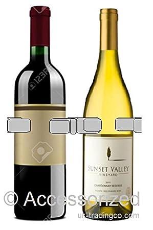 1–2 soporte para 2 botellas de vino. Metal. Cromo chapado en ní