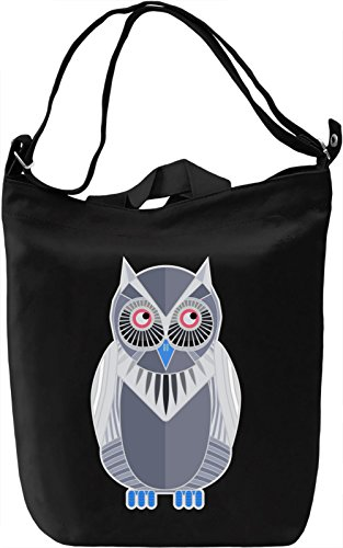 Psychedelic Owl Borsa Giornaliera Canvas Canvas Day Bag| 100% Premium Cotton Canvas| DTG Printing|
