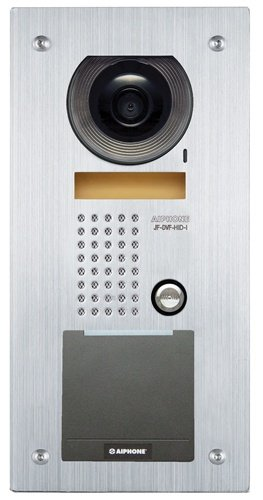 Aiphone - JFDVFHIDI - Fixed Video Door Station, embedded HID iCLASS Smart Card Reader, stainless