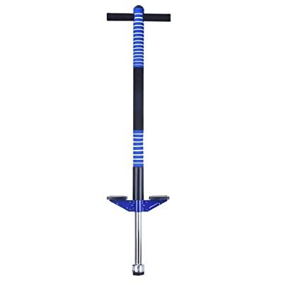 Pogo Stick,Foam Pogo Stick with Comfortable & Safe Rubber Hand Grips Jump Balance Sports Trainer Outdoor Sports (Blue): Arts, Crafts & Sewing