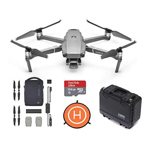 DJI Mavic 2 Pro Drone (3-Axis Gimbal, Hasselblad 20MP Camera) Bundle with Mavic 2 Fly More Kit + GPC Mavic 2 Pro…