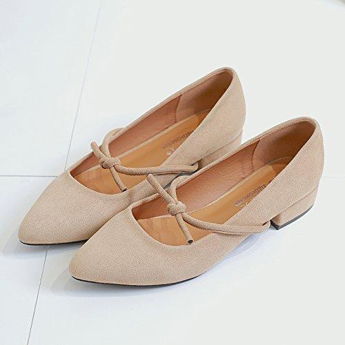 Verano Luz Banda Beige GAOLIM Alumnas En Punta Planos Zapatos Zapatos Gentlewoman Solo Zapatos De De De Mujer W0TqH