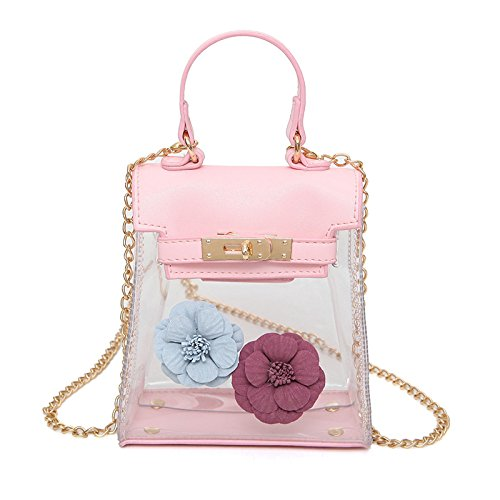 Woman For Transparent Gtvernh White Flower Design Handbag White Color qEww5Bf