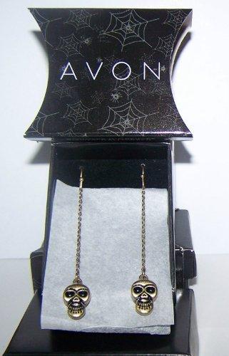 Avon Halloween Motif Earrings - SKULL
