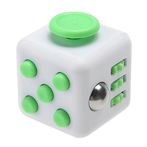 Magic Fidget Cube Anti-anxiety Adults Stress Relief Kid Toy (White - Green)