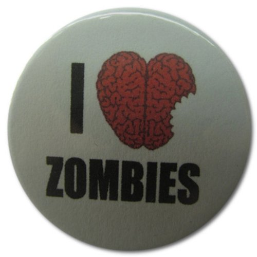 I Heart Zombies 1.25 Inch Magnet -