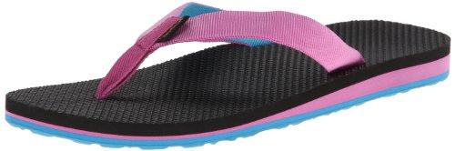 Teva Women's Original Flip Sandal,Pink/Blue,6 M (Webbing Flip Sandal)