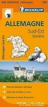 Carte Allemagne Sud-Est, Bavière Michelin par Michelin