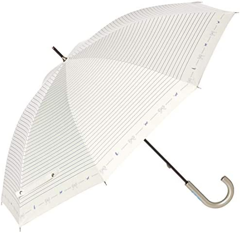 [ムーンバット] COOL UV(クールユーブイ) 遮光 婦人長用日傘 ボーダー・ネコプリント パラソル 紫外線 熱中症対策 レディース