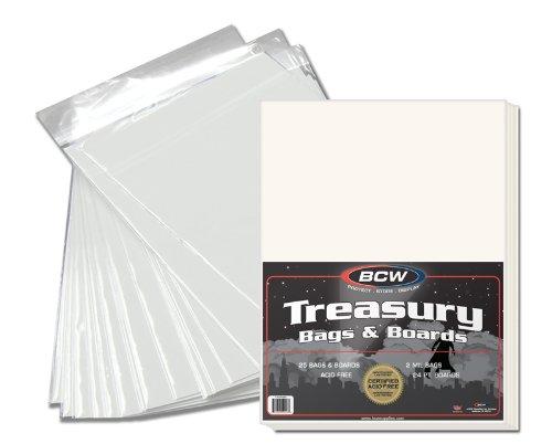 BCW 1-TB-BAGBRD New Premade Treasury Bag And Board