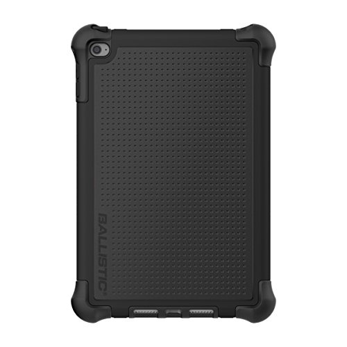Ballistic Tough Jacket Case with Cover and Kickstand for Apple iPad Mini 4 Released 2015 Models A1538/A1550 - Black