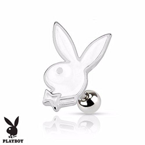 Playboy Bunny Cartilage/Tragus Freedom Fashion 316L Surgical Steel - Playboy Earrings Mens