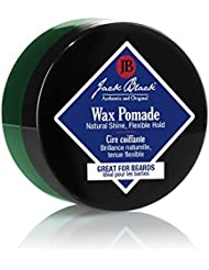JACK BLACK – Wax Pomade – Hair-Styling Pomade, Pliable Hold, Natural Shine, Great for Beards, Tea Tree Leaf Oil, Sage Leaf Extract, Grapefruit Peel Oil, 2.75 oz.