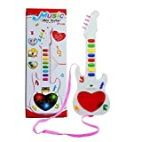 Saisan Mini Guitar Instrument with Sound & 3D Lighting Learning Toy for Kids,Mini Guitar for Kids (Color May Vary)