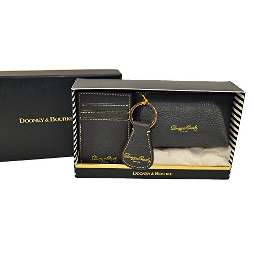 Dooney & Bourke Pebble Leather 3 pc boxed gift set Dark Grey by Dooney & Bourke