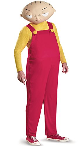 Disguise Family Guy Costume, Mens Stewie Deluxe Outfit, X-Large, Chest 42-46