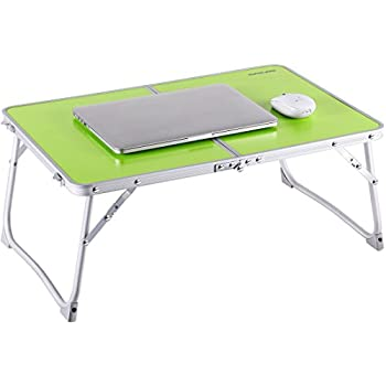 Foldable Laptop Table | Superjare Bed Desk | Breakfast Serving Bed Tray | Portable Mini Picnic Table & Ultra Lightweight | Folds in Half w Inner Storage ...