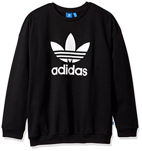 Adidas Sweatshirt (adidas Originals Women's Outerwear Trefoil Sweatshirt, Black, Medium)