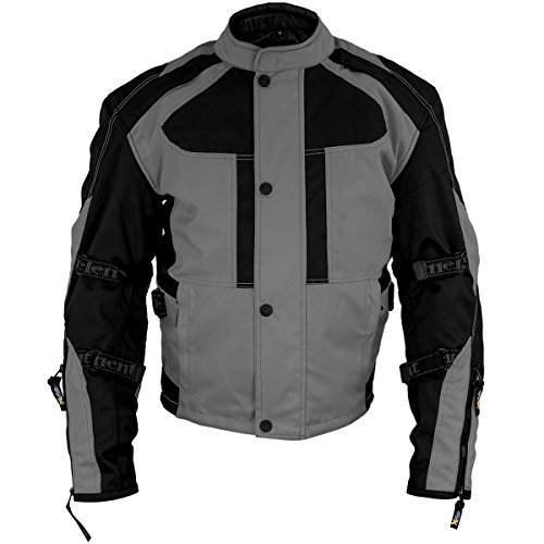 Xelement XS3005 Momentum Mens Black/Grey Tri-Tex Armored Motorcycle Jacket - X-Large (Xelement Motorcycle Jacket)
