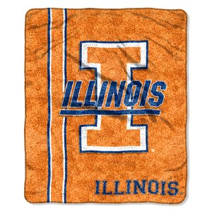 "The Northwest Company Officially Licensed NCAA Illinois Illini Jersey Sherpa on Sherpa Throw Blanket, 50"" x 60"""