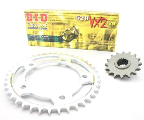 D.I.D YA 934.01.6hyper-reinforced X-RING cadena Set tipo VX2para Yamaha YFZ 350Banshee 00-05acero 109.01