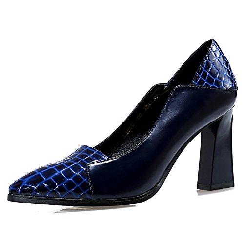 No.66 Town Women's Fashion Crocodile Pattern Pointed-toe Leather Pumps Pumps Pumps Parent B01DTYZZZI 0f76d8