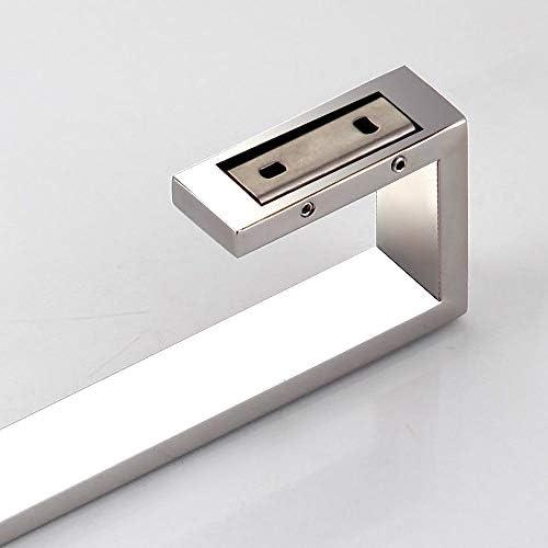 multifunktionaler Handtuchhalter-L/änge 40CM f/ür Badezimmer und K/üche oder Sauna Einfache Monta galvanisch beschichtet SUS304 Edelstahl Doppelstange mit Haken bohrfrei einfach zu installieren