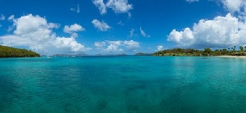 Island in the sea Caneel Bay St John US Virgin Islands Poster Print (30 x 14) - Caneel Bay