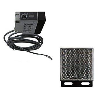 Reflective Infrared Photocell 12//24v PhotoEye Beam Sensor Sliding Gate Operators