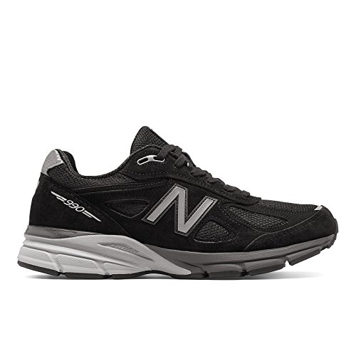 New Balance Men's M990BK4 Running Shoe, Black/Silver, 10.5 D US -  889516363515