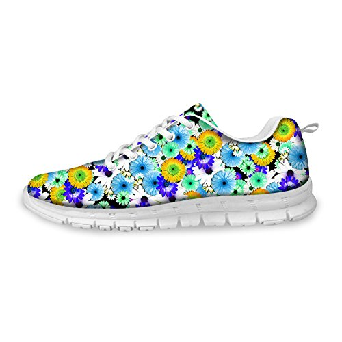3D Sneaker floral Shoes Pattern Flower 11 CHAQLIN Running Casual Womens wxtaRRP