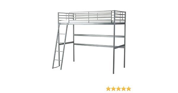Amazon Com Ikea Twin Size Loft Bed Frame Silver Color 6210 142329 1816 Furniture Decor,Modern Front Door Wreath Ideas