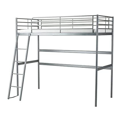 Amazon Com Ikea Twin Size Loft Bed Frame Silver Color 6210 142329